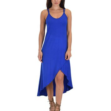 Lyss Loo All Wrapped Up Strappy Royal Wrap Dress