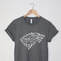 Game of Thrones Shirt - The North Remembers - Graphics Funny Shirt - Printing Shirt - Jon Snow - House Stark Shirt - GOT-wolf-Cup of tee