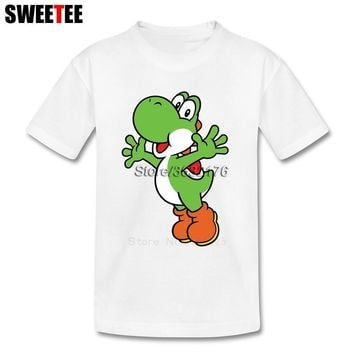 Super Mario party nes switch  Yoshi T Shirt Kid Pure Cotton Toddler Round Neck Baby Tshirt Children Infant Tees 2018 T-shirt For Boy Girl AT_80_8