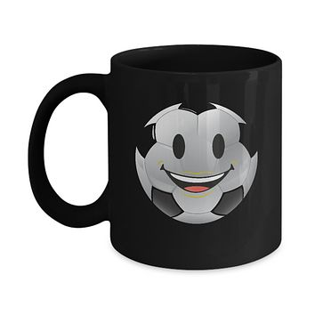 Soccer Ball Smiling Emoji Face Futbol Coffee Mug