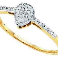 Diamond Fashion Ring in 10k Gold 0.07 ctw