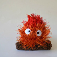 Calcifer plush fire small amigurumi Howl's Moving Castle