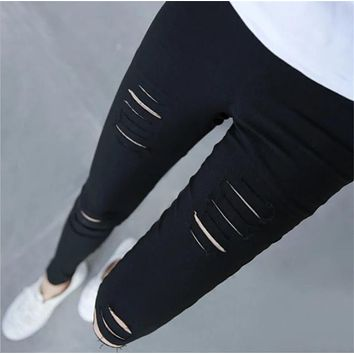 Summer Super Stretch Fitness Leggings For Women Cheapest Sexy Hole Legging Sport Fitness Leggins Deportivos Mujer