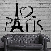 Paris Eiffel Tower Europe Tourist  Mural  Wall Art Decor Vinyl Sticker Unique Gift z706