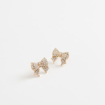 Carly Crystal Bow Earrings