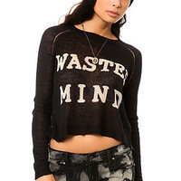 The Wasted Minds Sweater in Black