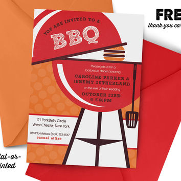 BBQ Bridal Couples Shower Invitation