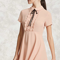 Ruffled Collar Mini Dress