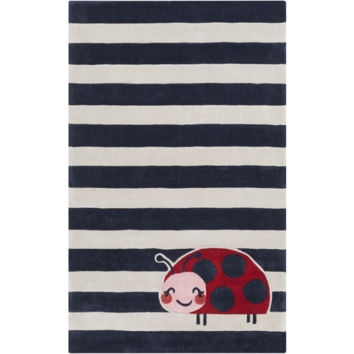 Young Life Cherry, Navy, & Pastel Pink Kids Rug design by Surya