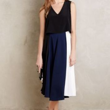 Shoshanna Moselle Midi Dress in Navy Size: