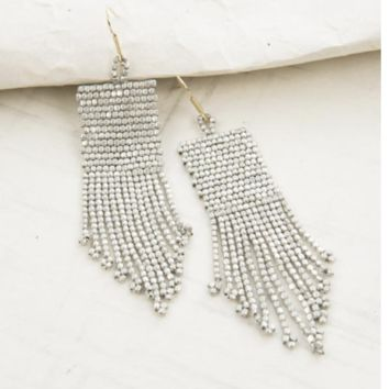Ink & Alloy  | Seed Bead Earrings with Fringe