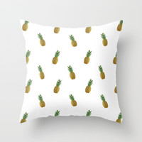 Pineapples Summer Throw Pillow by Estef Azevedo