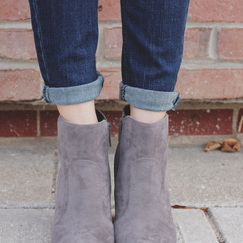 Finishing Touches Bootie - Grey