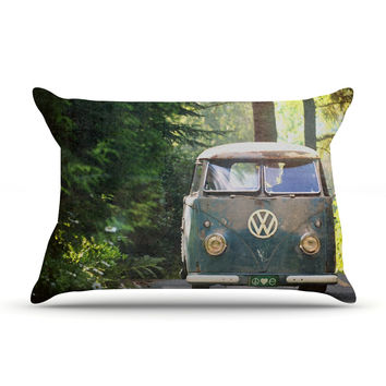 """Robin Dickinson """"Peace Love Nature"""" Forest Pillow Case"""