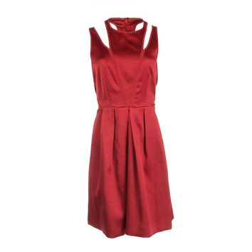 Rebecca Taylor Womens Satin Silk Lined Cocktail Dress