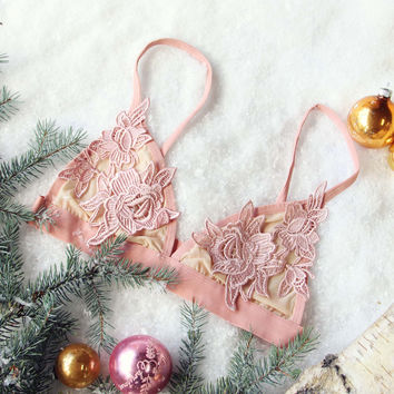 Sleepy Lace Bra in Rose