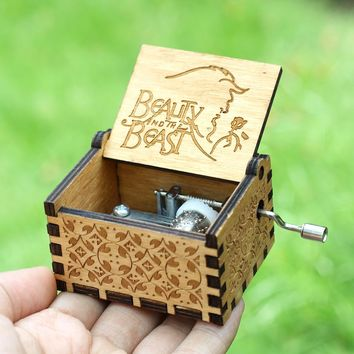 19 Style Hand Crank Theme Music beauty and the beast Island Princess Music Box  Davy Jones Game Of Thrones Star Wars
