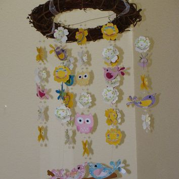 Love Bird WITH Owls Baby Mobile PB Hayley by magicalwhimsy on Etsy