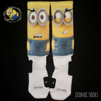 Minions Custom Nike Elite Crew Socks - Despicable Me