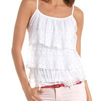 Tiered Lace Ruffle Tank: Charlotte Russe