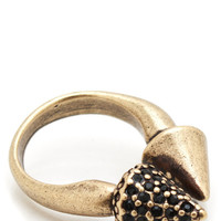 embellished-spike-open-ring GOLDBLACK - GoJane.com
