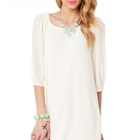 Robin Shift Dress in Ivory - ShopSosie.com