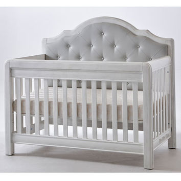 Cristallo Forever Crib Vintage White with Vinyl Panel