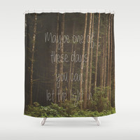 Let the light in Shower Curtain by Dena Brender Photography