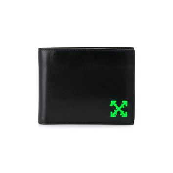 Iconic Neon Accented Black Wallet by OFF-WHITE