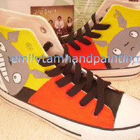 Custom Converse High Top Sneakers My Neighbor Totoro Themed