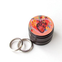 Anatomical Sacred Heart Pill Box - Anatomical Heart Vitamin Box - Sacred Heart Wood Ring Box - Father's Day gift - Groomsmen Gifts