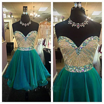 Blue Homecoming Dress,Short Homecoming Dress,Tulle Homecoming Dresses