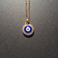 Evil Eye Nazar Bad Eye Necklace- Blue