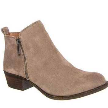 DCCKAB3 Lucky Brand Basel Brindle Suede Booties