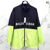 Balenciaga 2019 new letter print stitching loose mid-length jacket trench coat #2