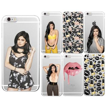 For iphone 6 Case Sexy MakeUp Lips Lipstick Kylie Jenner Cosmetics Soft TPU For iphone 4S 5S 5C 6 6PLUS 6SPLUS 7 7PLUS 8 8plus X
