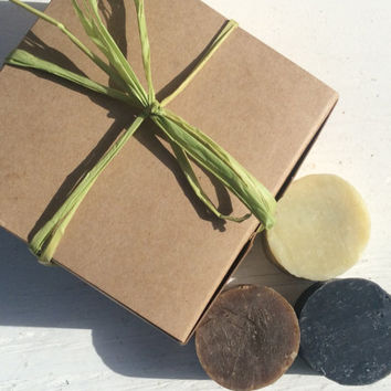 Gift set, Pine Tar, Activated Charcoal & Shave Soap, vegan, luxury soap, detox, spa soap, bare scents
