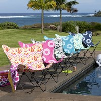 Tie-Dye Pink Magenta Butterfly Chair