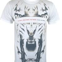 30 Seconds To Mars White Tiger Men's T-Shirt - Buy Online at Grindstore.com