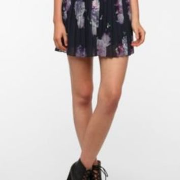 Sparkle & Fade Pleated Printed Mini Skirt