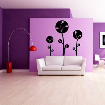 Vinyl Wall Decal Sticker Fluffy Trees #OS_MG351