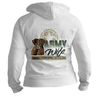 Army Wife supporting Jr. Hoodie> Army Wife supporting > militaryprideshop.com