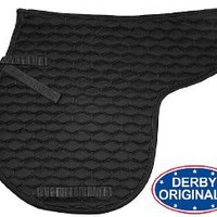 Derby Originals English AP Quilted Contour Saddle Pad, Black