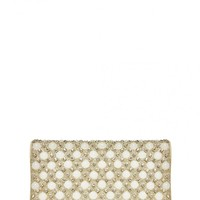 alice + olivia | PEARL CLUTCH