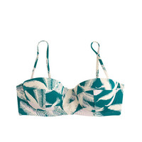 J.Crew Womens Tropical Fern Underwire Bikini Top