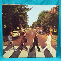 Vintage 70s THE BEATLES Abbey Road No Majesty All Rights Reserved Label Album Vinyl Record LP