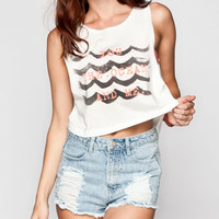 Billabong Clouds Above Womens Crop Tank White  In Sizes
