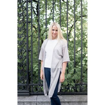Heathered Cardigan Cover-Up Duster