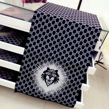 Perfect GUCCI Tiger Print Women Fashion Accessories Sunscreen Cape Scarves Scarf