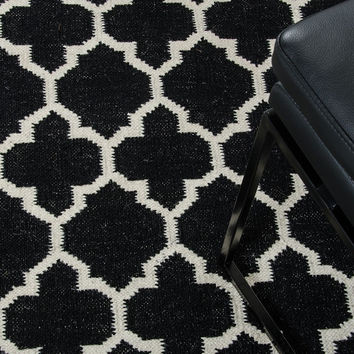 Linie Design Adelyn Black Wool Large Size Rug VGLDADELYN-BLK